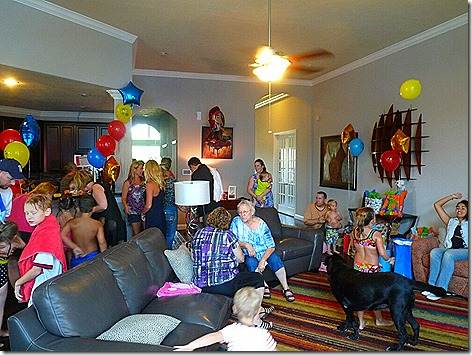Landon Birthday Party Crowd