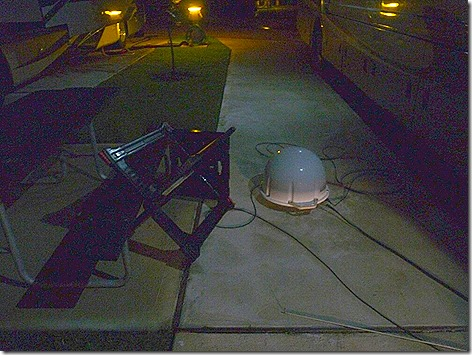 Sat Dish Blown Over