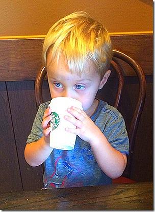 Landon at Starbuck's