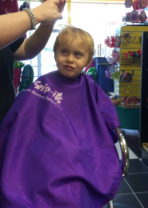 Landon's Haircut