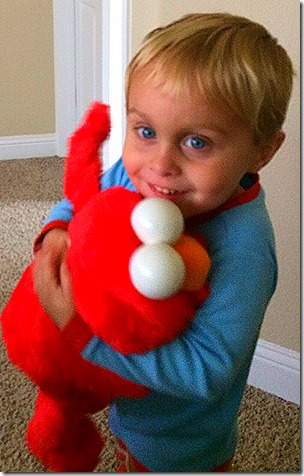 Landon and Elmo