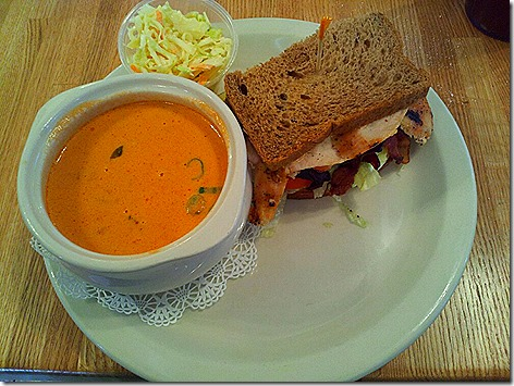 Sunflower Cafe Soup and Sandwich