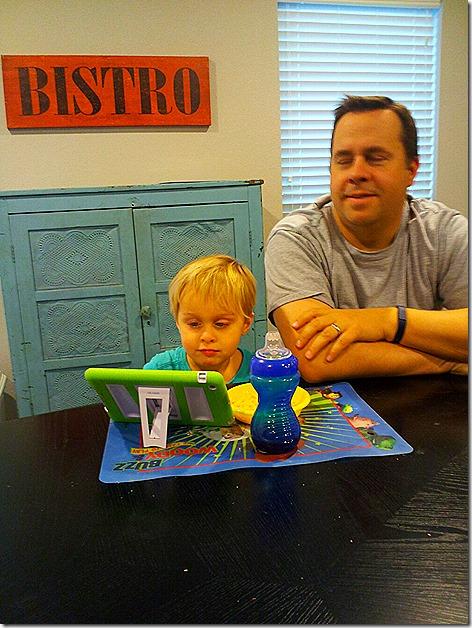 Landon and his iPad