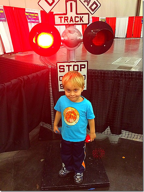 Landon at Train Show
