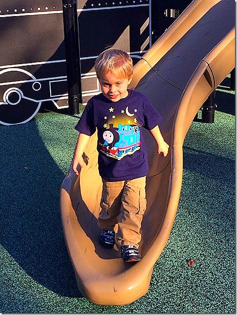 Landon in his Thomas Shirt