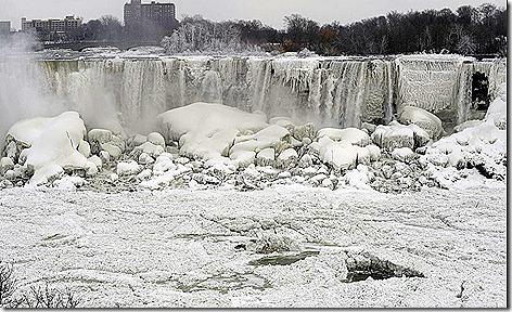 Niagara Falls Frozen Over