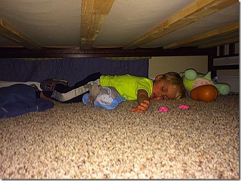 Landon under his Bed