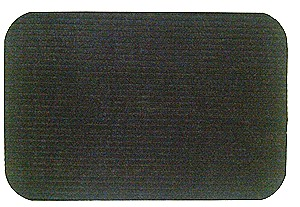 Ribbed Charcoal floor mat