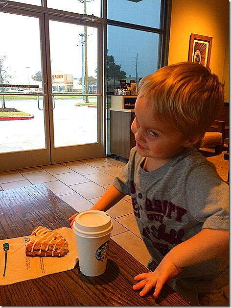 Landon's Early Morning Starbuck's Run 1