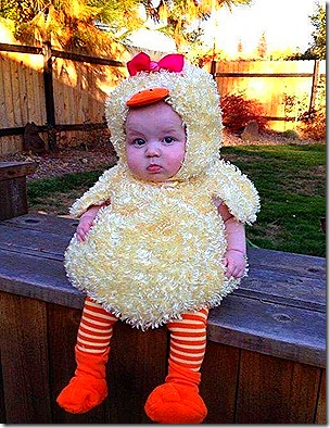 Baby in Chicken Suit