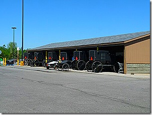Amish Buggy Parking - Goshen