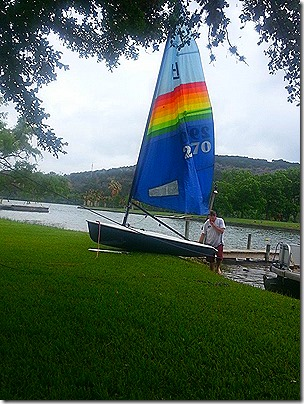 Chris' New Boat at Inks Lake