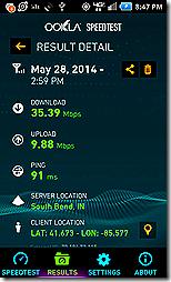 SpeedTest 35Mbs