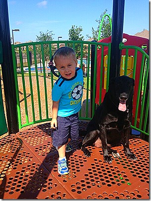 Landon and Kitty at the Park