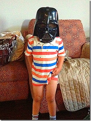 Landon as Darth Vader